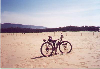 Bike Pacific City Or Ted s bike on sand dunes just